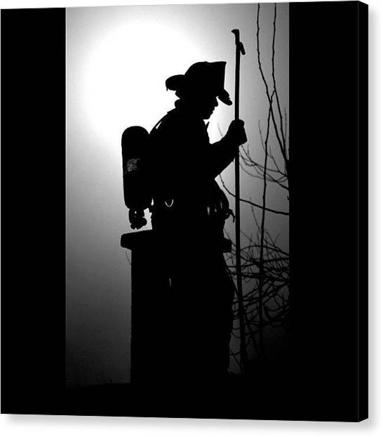 Firefighters Canvas Print - Shared From @brotherhoodoffire  Photo by James Crawshaw