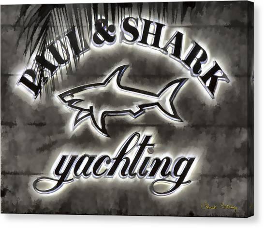 Shark Sign Canvas Print