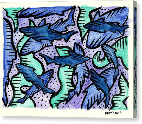 Sharkpac... Canvas Print