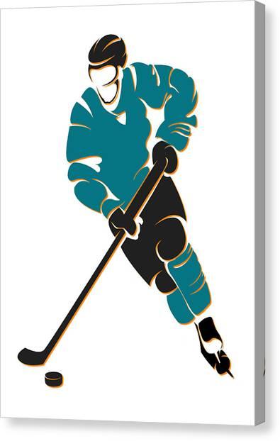 San Jose Sharks Canvas Print - Sharks Shadow Player by Joe Hamilton