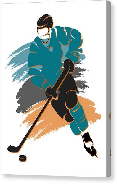 San Jose Sharks Canvas Print - Sharks Shadow Player2 by Joe Hamilton