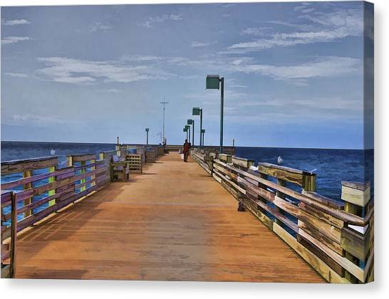 Sharky's Fishing Pier Canvas Print