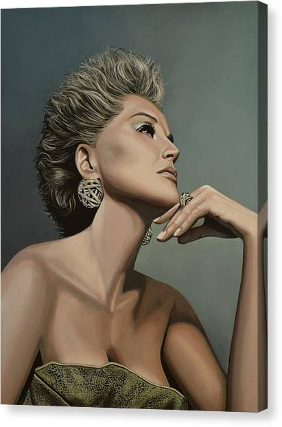 Ginger Canvas Print - Sharon Stone by Paul Meijering