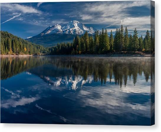 Shasta And Lake Siskiyou Canvas Print