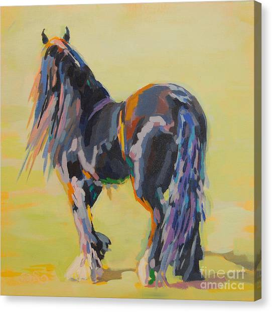 Draft Horses Canvas Print - Shasta Solomon by Kimberly Santini