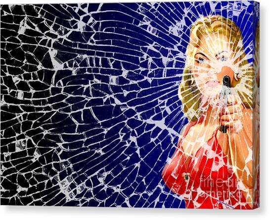 Shattered Wideshot Canvas Print