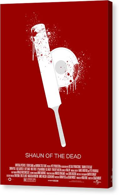 Simon Canvas Print - Shaun Of The Dead Custom Poster by Jeff Bell