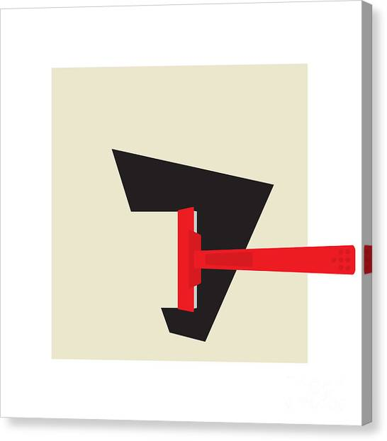 Suprematism Canvas Print - Shave Time by Igor Kislev