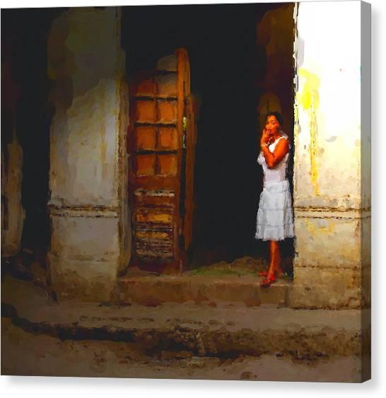She Beckons Canvas Print