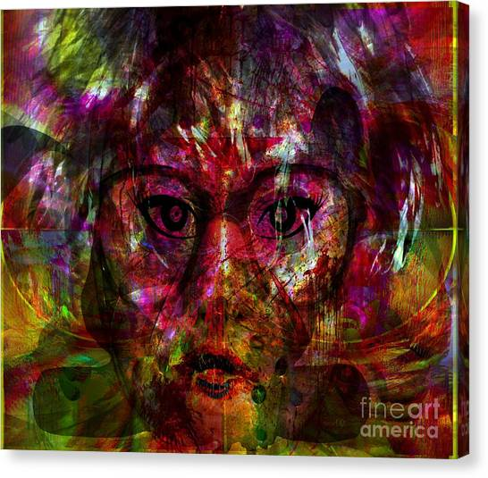 She Is Present But Very Absent Canvas Print by Fania Simon