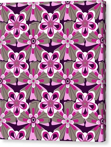 She Loves Me Floral Canvas Print by Lisa Noneman