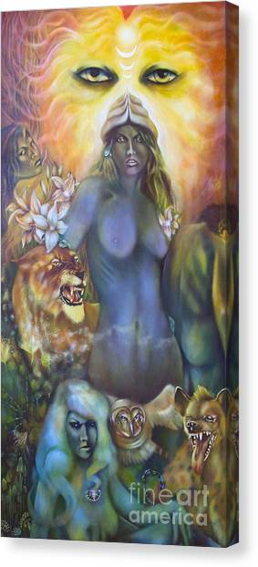 She The Flowering Of Ishtar Canvas Print