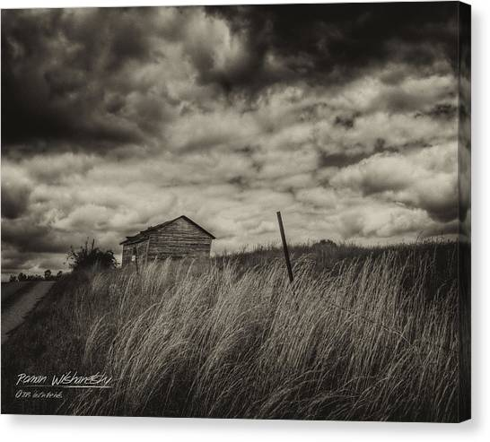 Shed And Field Canvas Print
