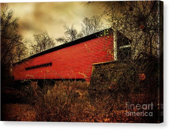 Sheeder Hall Covered Bridge 2 Canvas Print
