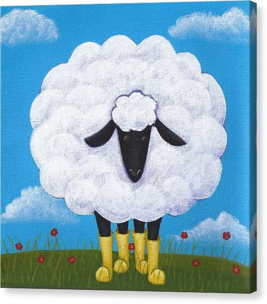 Sheep Canvas Print - Sheep Nursery Art by Christy Beckwith