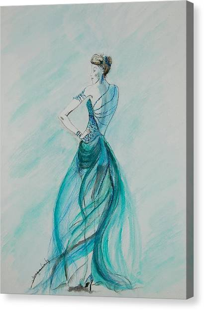 Sheer Blue Canvas Print