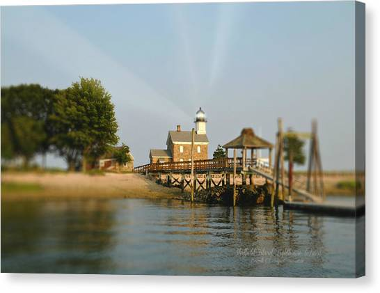 Norwalk Canvas Print - Sheffield Island Lighthouse by Diana Angstadt
