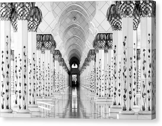 Mosques Canvas Print - Sheik Zayed Mosque by Hans-wolfgang Hawerkamp