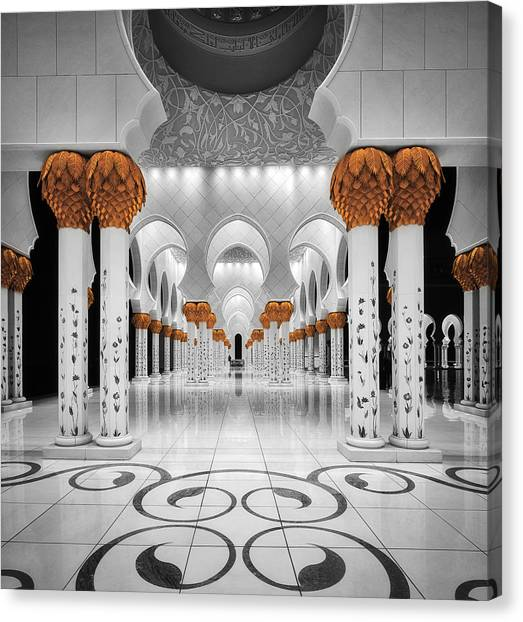 Mosques Canvas Print - Sheikh Al Zayed Grand Mosque by Massimo Cuomo