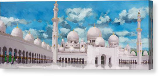 Jordan Canvas Print - Sheikh Zayed Mosque by Catf