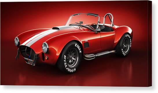 Cobra Canvas Print - Shelby Cobra 427 - Bloodshot by Marc Orphanos