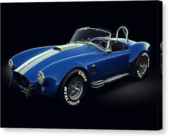 Cobras Canvas Print - Shelby Cobra 427 - Bolt by Marc Orphanos