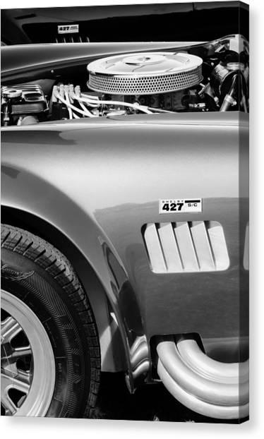 Cobras Canvas Print - Shelby Cobra 427 Engine by Jill Reger