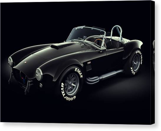 Cobras Canvas Print - Shelby Cobra 427 - Ghost by Marc Orphanos