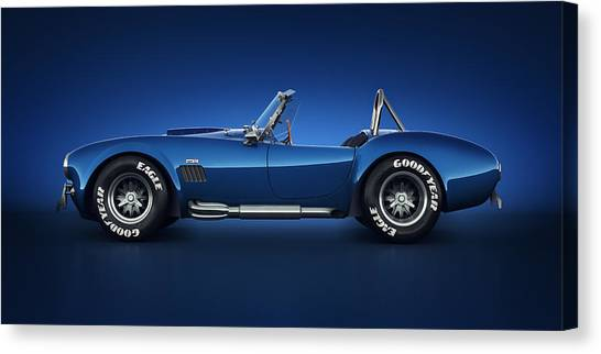 Cobras Canvas Print - Shelby Cobra 427 - Water Snake by Marc Orphanos