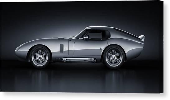 Cobra Canvas Print - Shelby Daytona - Bullet by Marc Orphanos