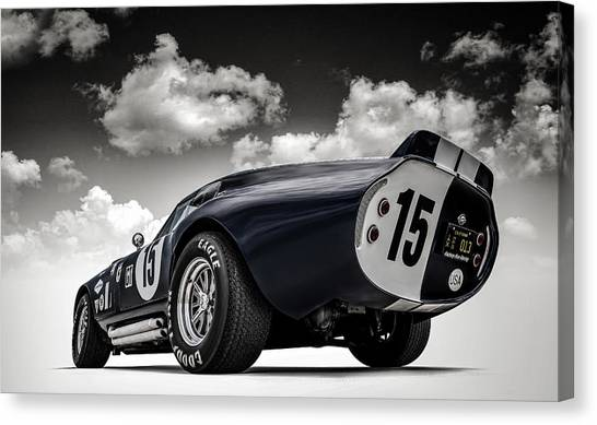 Sports Cars Canvas Print - Shelby Daytona by Douglas Pittman