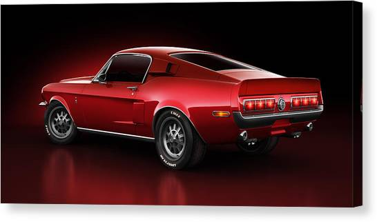 Shelby Gt500 - Redline Canvas Print