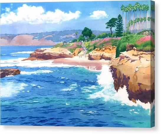 Coffee Mug Canvas Print - Shell Beach La Jolla by Mary Helmreich