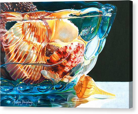 Shell Game Canvas Print by Arlene Steinberg