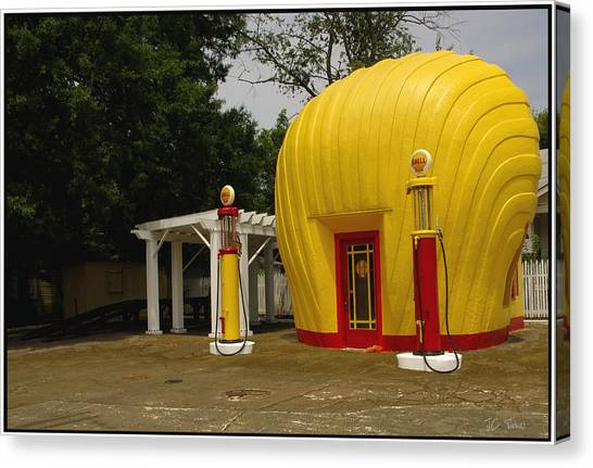Shell Oil Gas Station Canvas Print