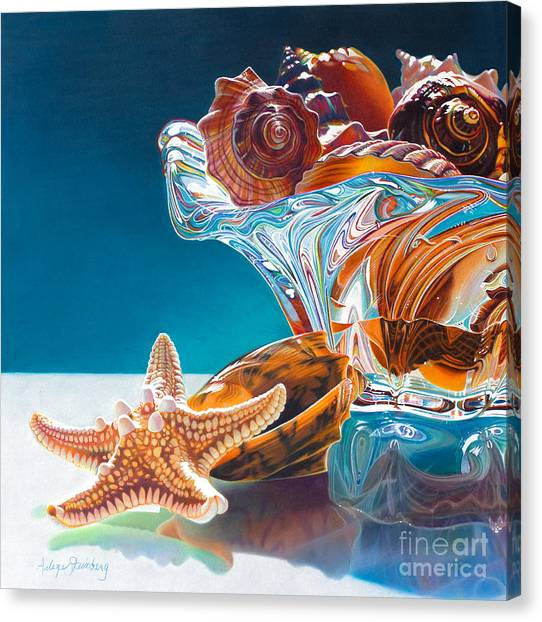Shell Shocked Canvas Print by Arlene Steinberg
