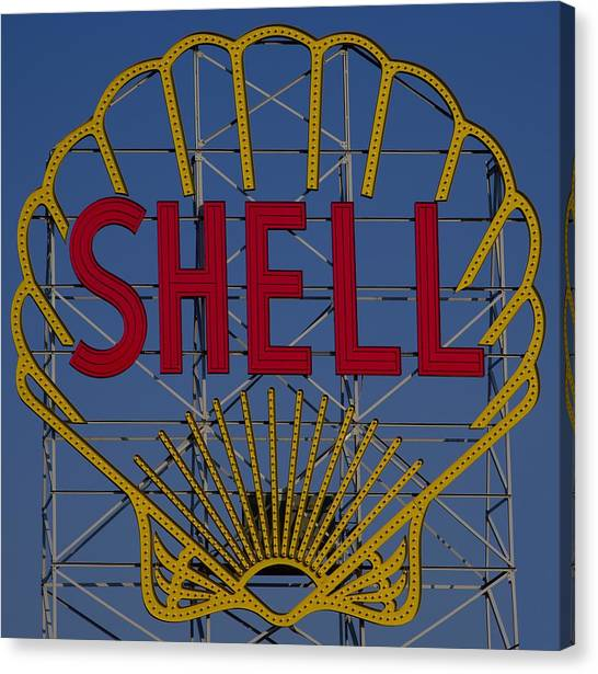 Shell Sign Cambridgeside Canvas Print