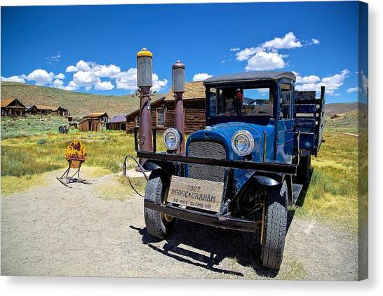 Shell Station In Bodie Canvas Print
