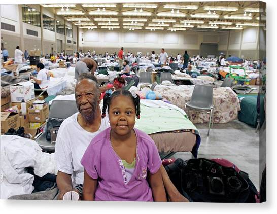 Shelter For Hurricane Katrina Survivors Canvas Print by Jim West