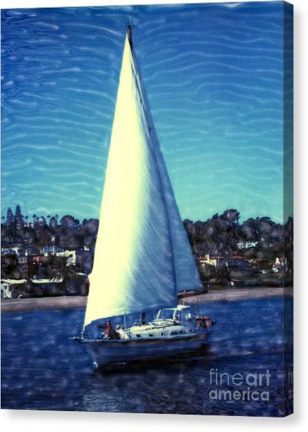 Shelter Island Sailing Canvas Print