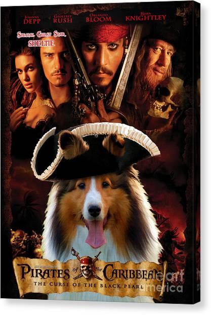 Sheltie - Shetland Sheepdog Art Canvas Print - Pirates Of The Caribbean The Curse Of The Black Pearl Canvas Print