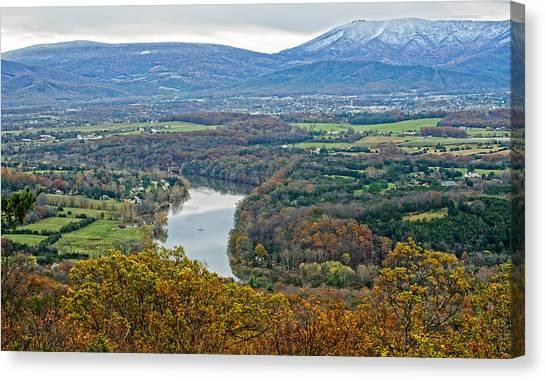 Shenandoah Fall And Winter Canvas Print