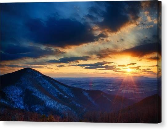 Shenandoah Canvas Print - Shenandoah Sunset by Joan Carroll