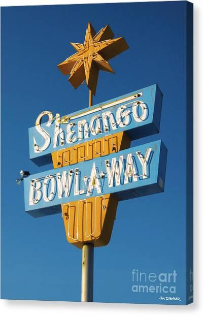 50s Canvas Print - Shenango Bowl-a-way by Jim Zahniser