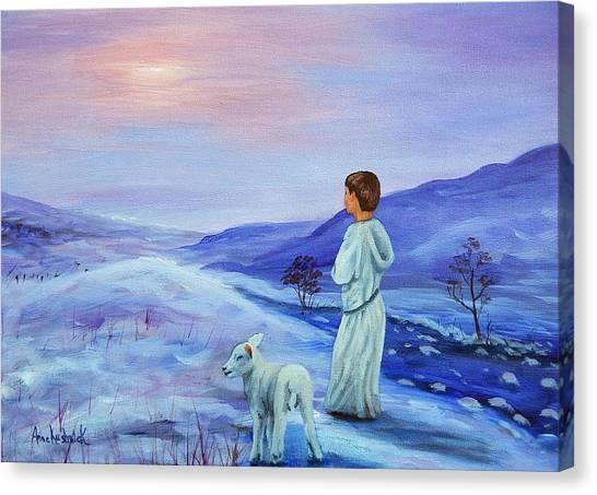 Canvas Print - Shepherd Boy by Anne Kushnick