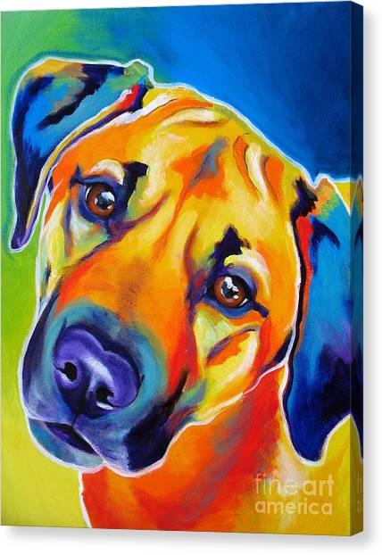 Rhodesian Ridgeback - Puppy Dog Eyes Canvas Print