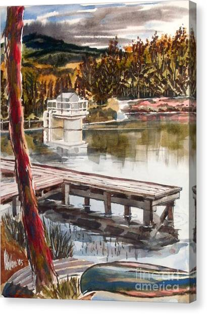 Shepherd Mountain Lake In Twilight Canvas Print