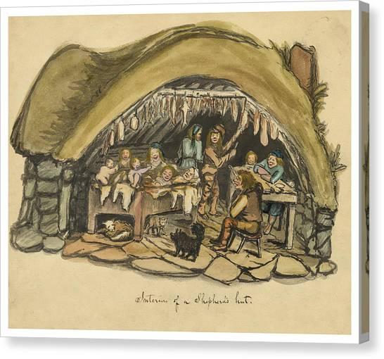 Islanders Canvas Print - Shepherds Hut Iceland Circa 1962 by Aged Pixel