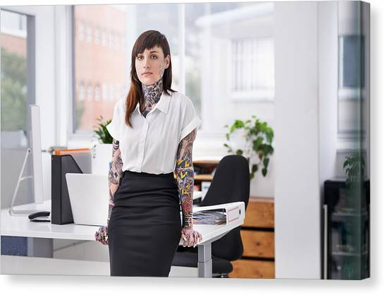 She's Ready To Rock The Corporate Scene Canvas Print by PeopleImages