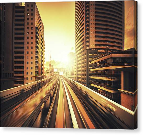 Shibaura Business Area In Tokyo - Japan Canvas Print by Franckreporter